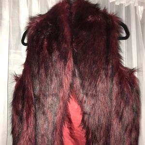BCBGeneration faux fur vest only wore once!